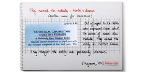 sacroiliac lipomatosis